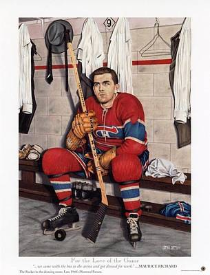 Art Of Hockey Mixed Media - Legends Series For The Love Of The Game 12x15 by Daniel Parry