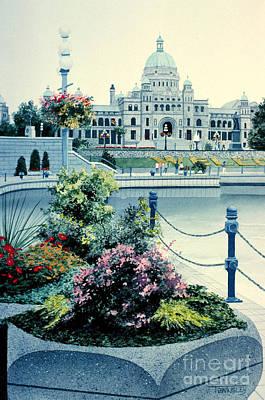 Capitol Building Painting - Legislative Buildings by Frank Townsley