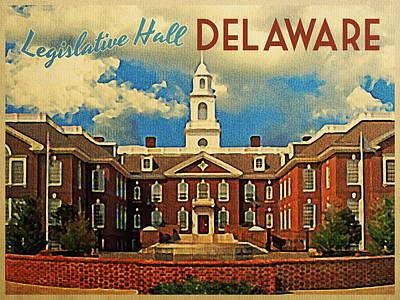 Capitol Building Digital Art - Legislative Hall Delaware by Flo Karp