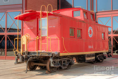 Lehigh And New England Caboose Print by Clarence Holmes