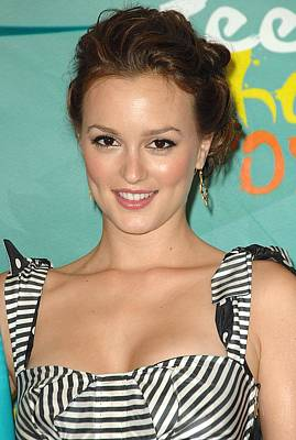 Leighton Meester In The Press Room Print by Everett