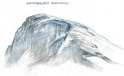 Yosemite National Park Drawing - Lembert Dome At Noon by Logan Parsons