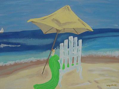 Lemonade On The Beach Print by Bobbi Groves