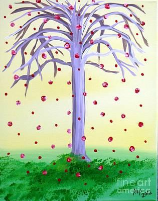 Roses Painting - Lemonade Sky Wishing Tree by Alys Caviness-Gober