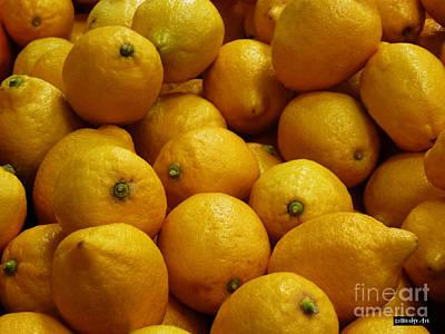 Lemons Print by Methune Hively