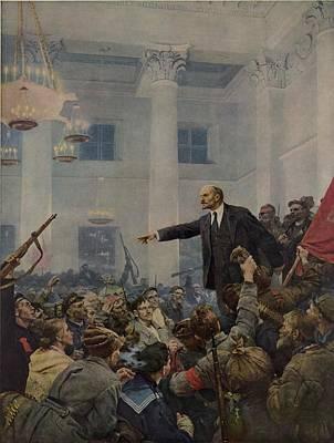 Lenin 1870-1924 Declaring Power Print by Everett