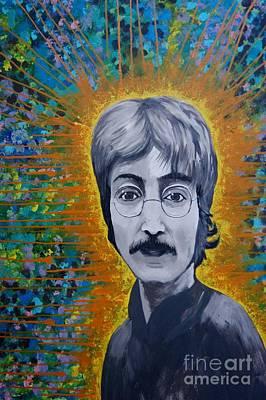 Www.artworkxofmann.com Mixed Media - Lennon by James Flynn