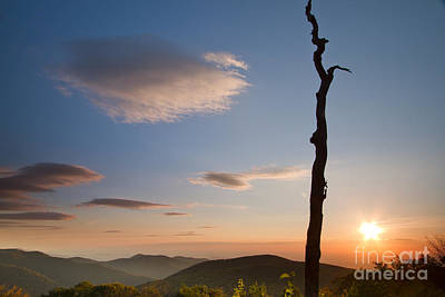 Lenticular Clouds Over Shenandoah National Park Print by Dustin K Ryan