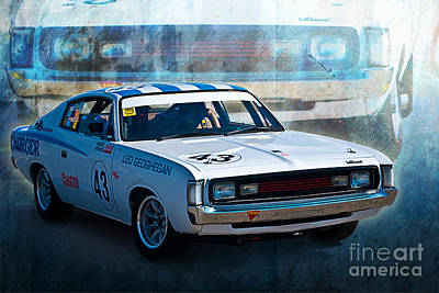 Muscle Car Masters Photograph - Leo Geoghegan Charger by Stuart Row