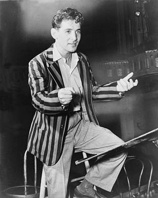Leonard Bernstein 1918-1990, Young Print by Everett