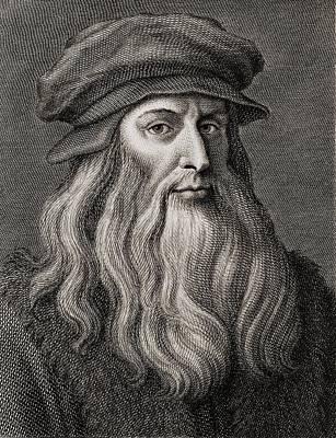 Self-portrait Photograph - Leonardo Da Vinci 1452-1519, Italian by Everett