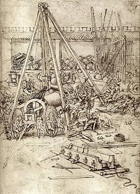 Technical Photograph - Leonardo's Cannon Foundry by Sheila Terry