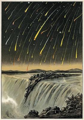 Leonid Meteor Shower Of 1833, Artwork Print by Detlev Van Ravenswaay