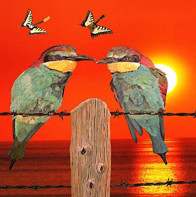 Blue Butterfly Digital Art - Let It Be by Eric Kempson