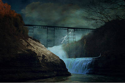 Lightning Photograph - Letchworth Strike by Emily Stauring