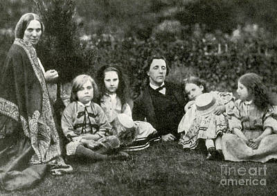 Jabberwocky Photograph - Lewis Carroll, Mrs. George Macdonald & by Photo Researchers