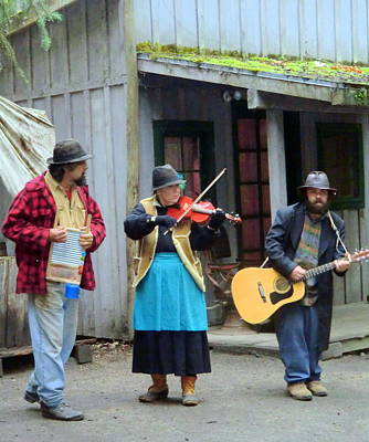 Violin Digital Art - Liarsville Alaska Musicans by Mindy Newman