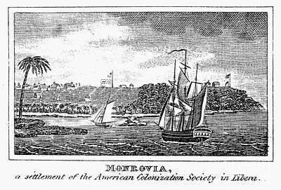 Liberia: Freed Slaves 1832 Print by Granger