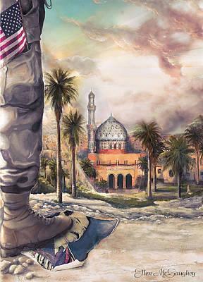 Iraq War Painting - Liberty by Ellen Mcgaughey