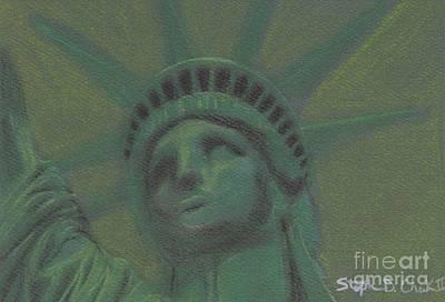 Liberty In Green Print by Stephen Cheek II