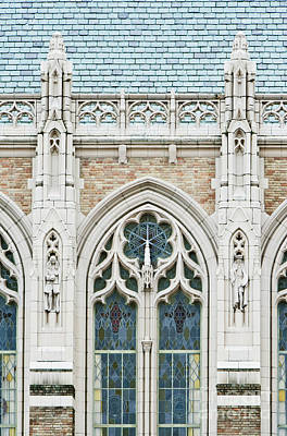 Northwest Library Photograph - Library Facade by Rob Tilley