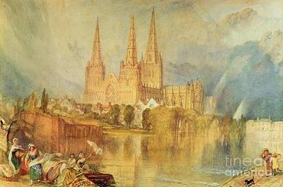 River View Painting - Lichfield by Joseph Mallord William Turner