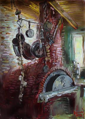 Baking Painting - Greek Furno  by Ylli Haruni