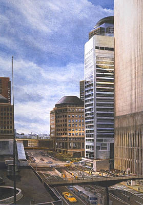 2001. World Trade Center Painting - Life In The Hologram by Michael Cook