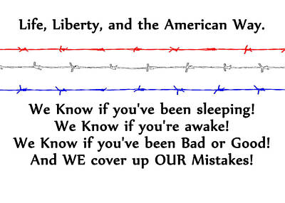 Life Liberty And The American Way 2 Print by Bruce Iorio