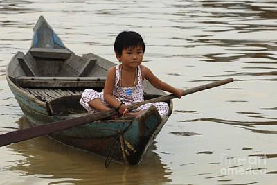Life On Lake Tonle Sap 2 Print by Bob Christopher