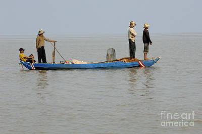 Life On Lake Tonle Sap 5 Print by Bob Christopher