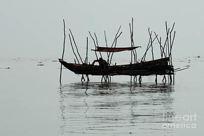 Life On Lake Tonle Sap  Print by Bob Christopher