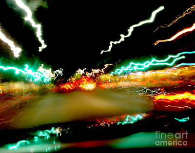 Abstract Digital Light Trails Photograph - Life Passing You By by Peter Piatt