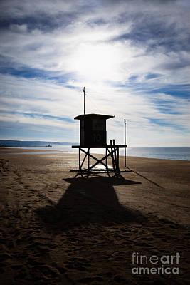 Lifeguard Tower Newport Beach California Print by Paul Velgos