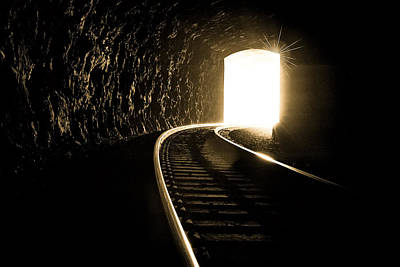 Light At The End Of The Tunnel Print by Joye Ardyn Durham