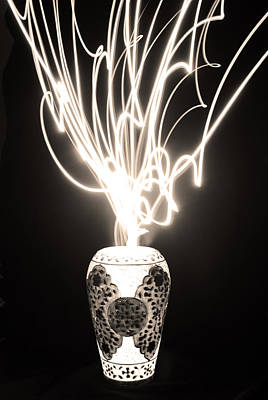 Marble Flower Vases Photograph - Light From A Vase by Sumit Mehndiratta