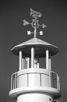 Light House On Coney Island In Black And White  Print by Rob Hans