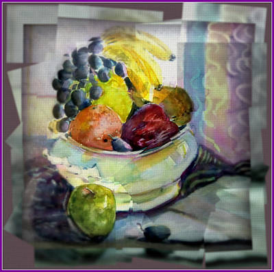 Banana Digital Art - Light Lunch by Mindy Newman