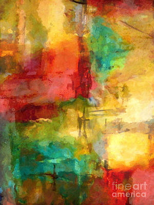 Abstract Expressionism Painting - Light Moments by Lutz Baar