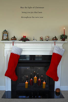 Decorated For Christmas Photograph - Light Of Christmas by Sally Weigand