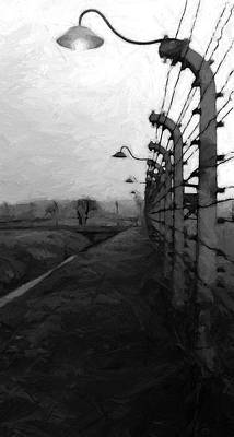 Auschwitz Painting - Light Of Darkness by Steve K