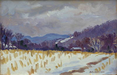 Light Snow Berkshires Print by Thor Wickstrom