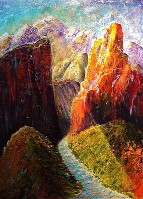 Light Through The Canyon Print by Mark Malone