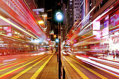 Tsui Photograph - Light Trails by Andi Andreas