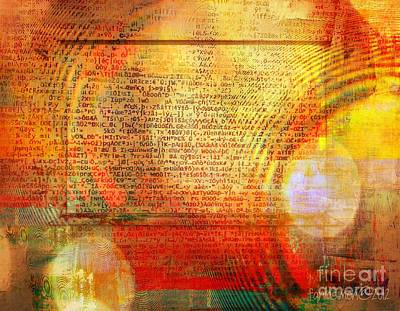 Yesayah Mixed Media - Light Word by Fania Simon