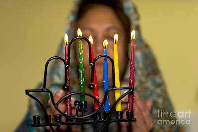 Hanukah Photograph - Lighting The Chanukia by Yossi Aptekar