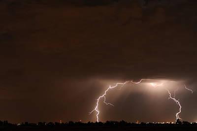 Lightning Bolt Photograph - Lightning 6 by Jennifer Brindley