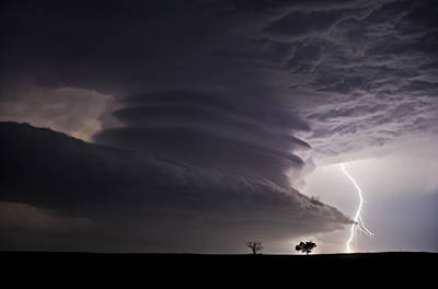 Lightning Photograph - Lightning And Stacked Plates by Jennifer Brindley