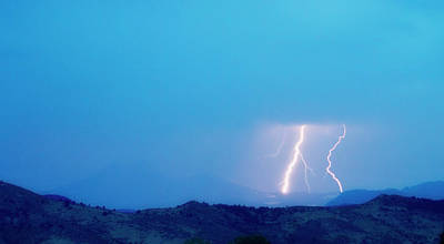 Lightning Bolts Hitting The Continental Divide Crop Print by James BO  Insogna