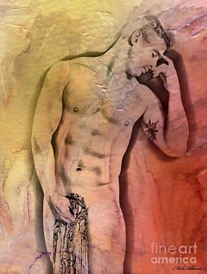 Nude Digital Art - Like A Natural Man by Mark Ashkenazi